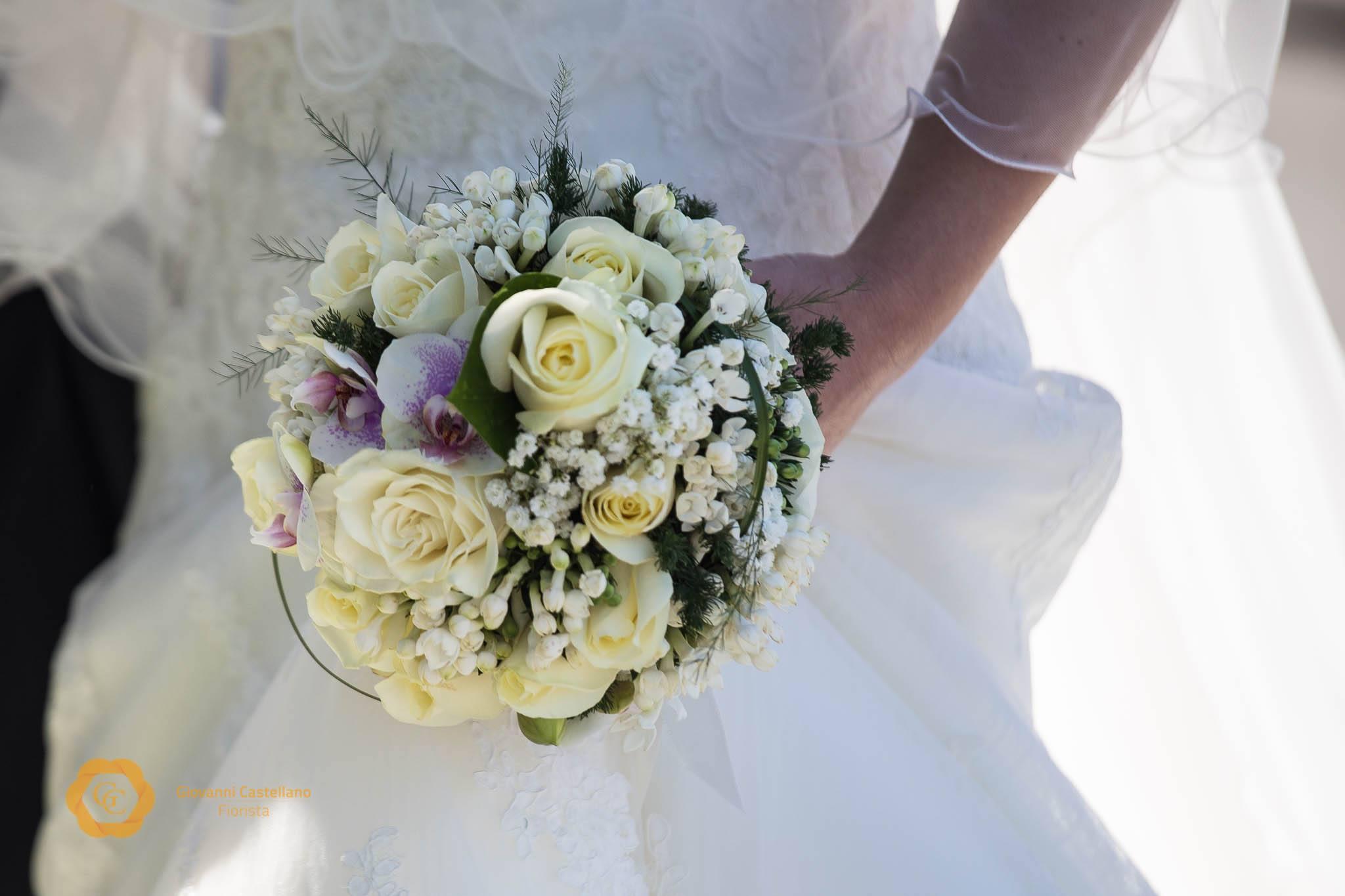 Bridal Bouquet Roses & orchid 2